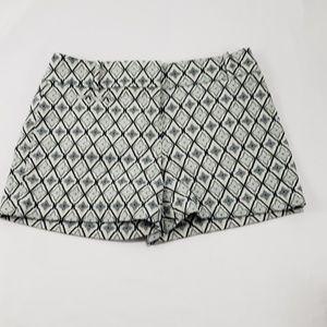 Ann Taylor Loft White/Grey Diamond Casual Shorts
